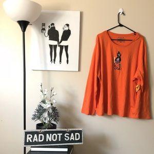 6aafd81cc52 Tops - 🌸NWT Plus Size Halloween Theme Orange Long Sleeve